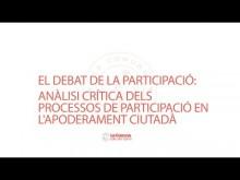 El debat de la participacio: anàlisi crítica dels processos de participació en l'apoderament ciutadà